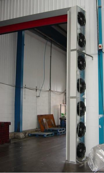 Industriluftport Indesse, vertikal montering